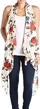 Triple9shop Women's Open Asymmetrical Hem Vest Cardigan