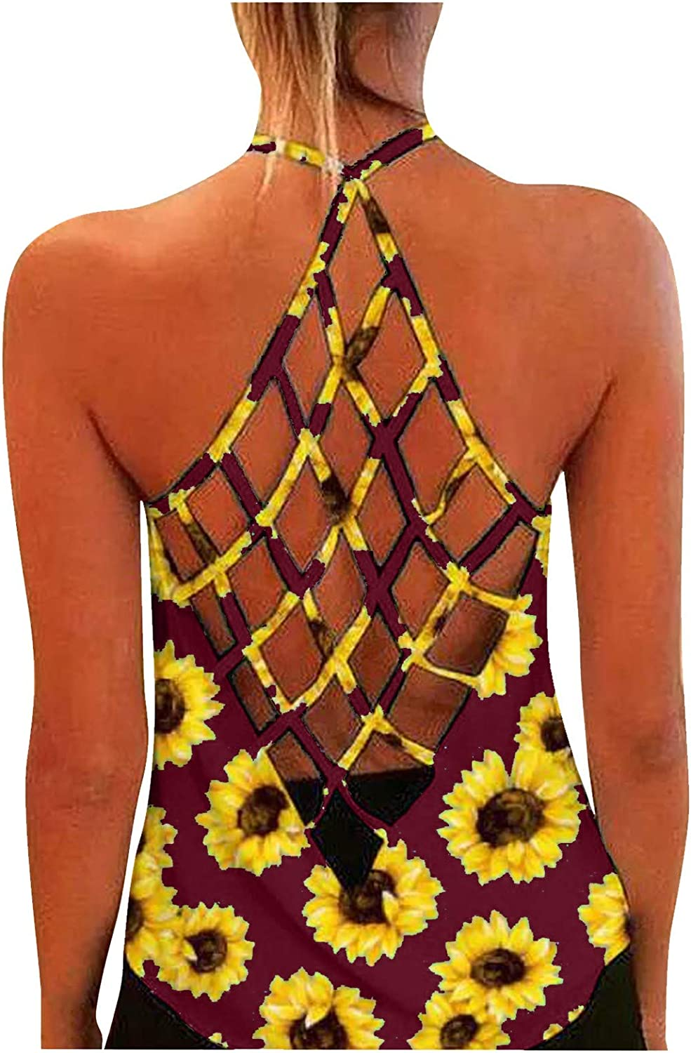Gemira Open Back Tank Popular overseas Philadelphia Mall Tops for Camisole Women Hollow Sexy Sh Out