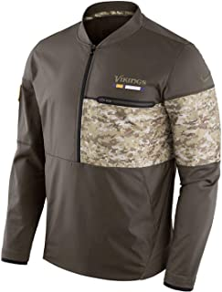 Minnesota Vikings NFL Salute to Service Sideline Men's Hybrid Jacket (Large)