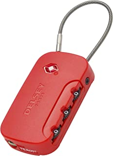 Delsey Luggage Lock, red (Red) - 00394022004