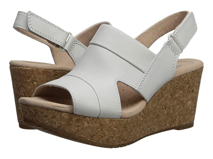 Clarks  Annadel Ivory (White Leather) Womens  Shoes