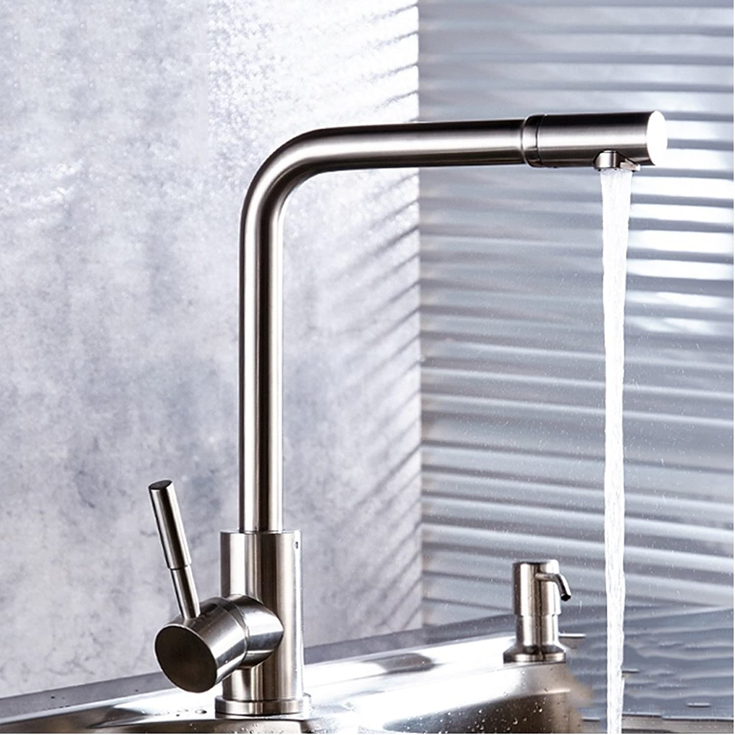 European-style Kitchen Faucet, 304 Stainless Steel Faucet, Kitchen Lead-free Sinks Caipen Leading ( color   C )