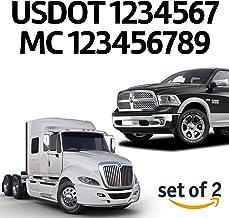 MC USDOT Set of 2 GVW Number Sticker Decal Transport Business Name with Origin City