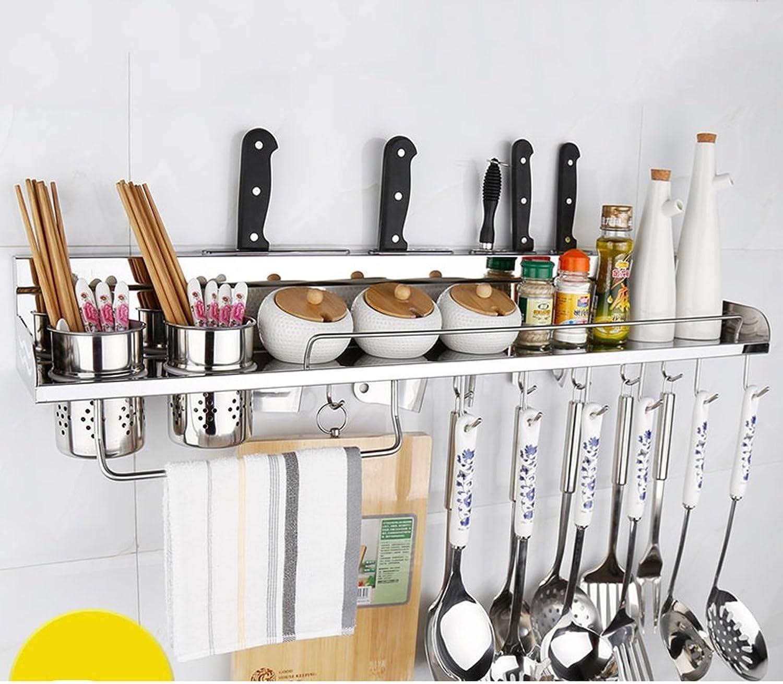 Stainless Steel Kitchen Shelf, Wall Racks, Storage Racks, Knife Racks, Pendants 304 Seasoning Spices Shelf40cm ( Size   80cm )