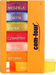 COM-FOUR® medicatiedispenser in POOLS - medicatiedoos voor 7 dagen - 3 compartimenten - pillendoos - tablettendoos - weekd...