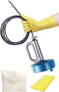 オマヒット パイプクリーナー ワイヤー 排水溝 つまり 手袋 保管袋 スポンジ 説明書付 業務用清掃ブラシ (5m)