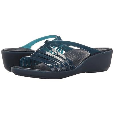 Crocs Isabella Mini Wedge (Navy/Navy) Women