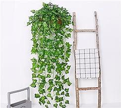 90 cm groen kunstmatig blad plant wijnstok bruiloft thuis tuin hek decoratie rotan muur opknoping creeper klimop krans (Co...