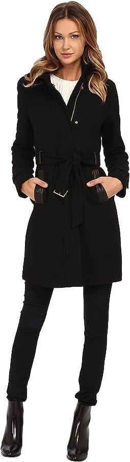 Zip Front Stand Collar Coat