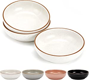 Ceramic Cat Bowls, Cottagecore Pet Bowl Cat Dishes for Food and Water, 5.19 in Cat Food Bowl 3 Pack Pet Dishes for Cats, Matte Finish