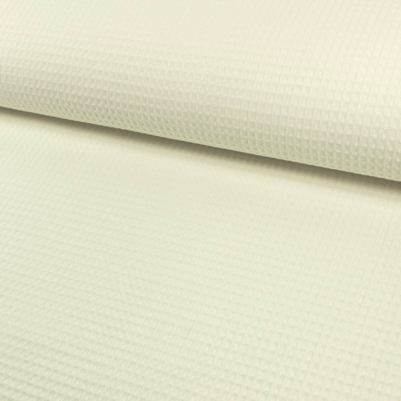 Tela de algodón piqué cuadriculada blanco – Precio de 0,5 metro de ...
