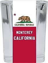 Monterey California Souvenir 2 Ounce Square Shot Glass 4 Pack
