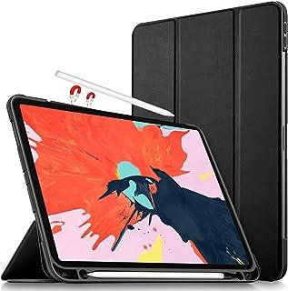 Luibor Apple iPad Pro 12.9 2018 Estuche - Cubierta Elegante y Delgado Estuche de Piel Ultra Ligero Estuche para Apple iPad Pro 12.9 2018 Tableta (Negro)
