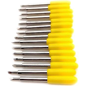 15pc/Set 45 grados Roland Cuchillas Plotter Vinilo cortador cuchillo para Roland plotter de corte de Cricut: Amazon.es: Bricolaje y herramientas
