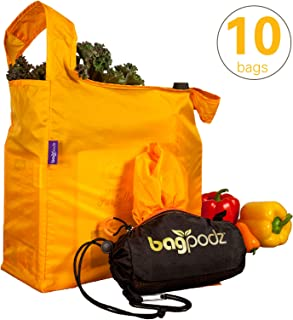 BagPodz Reusable Bag and Storage System - Saffron Yellow (Contains 10 Bags)