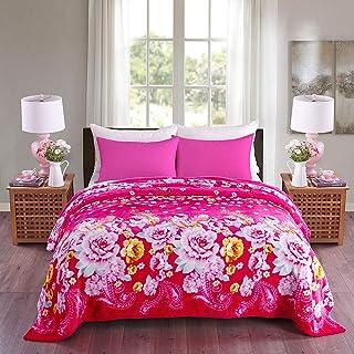 JML Luxury Flannel Fleece Blanket - Printed Warm Fuzzy Ultra Plush Lightweight Couch Bed Blanket All Season (King, Flower Blossom)