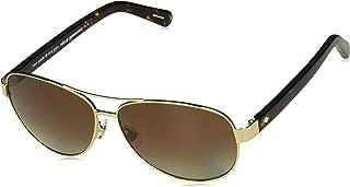 Kate Spade Women's Dalia2/p/s Polarized Rectangular Sunglasses, Gold Havana, 58 mm