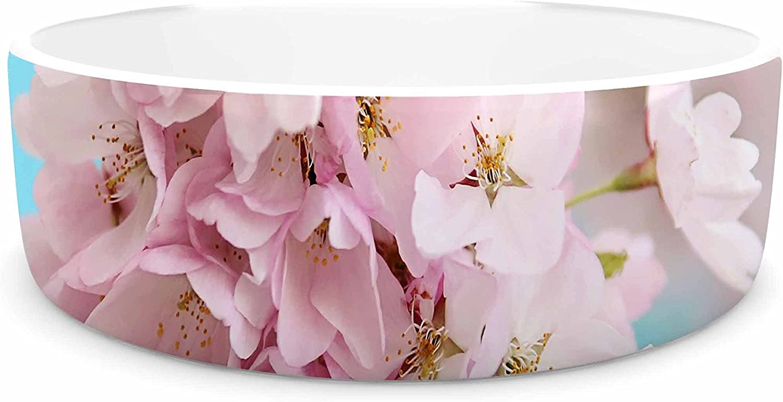 KESS InHouse Sylvia Cook a Pastel Spring  Pink Floral Pet Bowl, 7