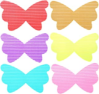 QY 6PCS Colorful Flower Butterfly Pattern Magic Bangs Hair Pad Makeup Pad Hair Fringe Care Tool Makeup Accessories