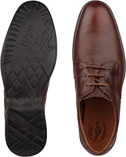 Medifeet Men Formal Leather Shoes in Brown/Lace up Shoes Colour_MFS-991
