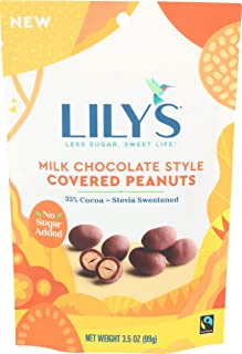 Lily's Chocolate, Peanuts Milk Chocolate Covered, 3.5 Ounce