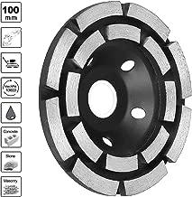4'' Diamond Cup Concrete Turbo Grinding Wheel, Double Row Wheel for Angle Grinder Stone Masonry Granite Marble