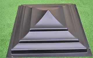 PLASTIK MOLD FOR FENCE PIER CAP NOULDS POST CONCRETE CEMENT 15.74x15.74 inch#P04