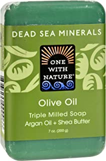 One With Nature Dead Sea Mineral Olive Oil Soap - 7 Oz, 5 pack