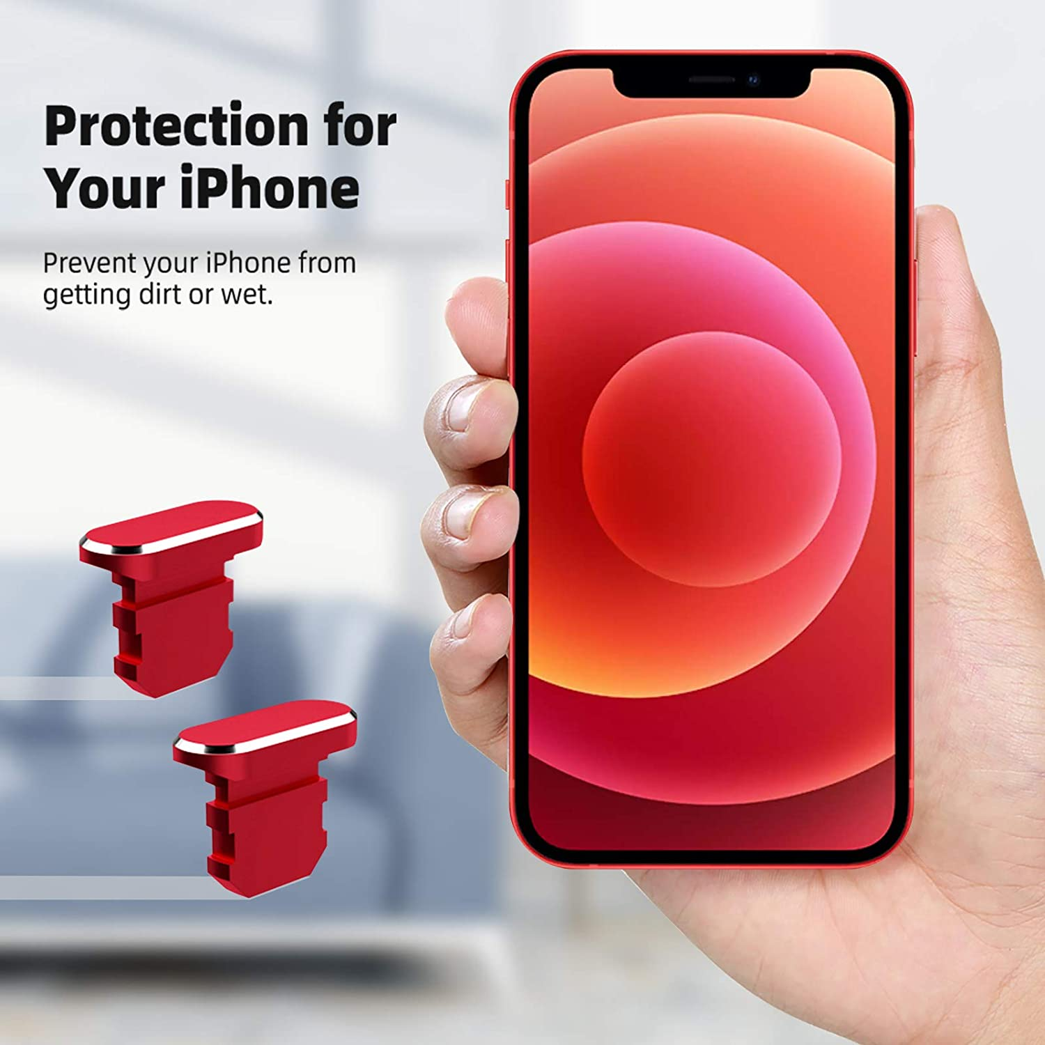 Anti Dust Cover Caps with Cable Clip Charging Port Plug Dust Protector with Carrying Box Compatible with iPhone 12//11 Pro Max//XS//XR Black TITACUTE Compatible with iPhone 12 Pro Dust Plug 2 Pack