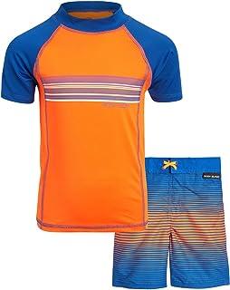 ست لباس شنا بدن پسرانه 2 تکه UPF 50 Rash Guard (پسران کوچک)
