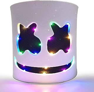 DJ LED Mask - Music Festival Party Halloween Light Up Mask Carnival DJ Helmet