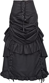 Belle Poque Women Steampunk Gothic Bustle Skirt Victorian Costume