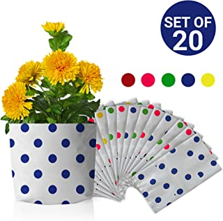 Trust Basket Colourful Dotted Grow Bags (Multicolour, Pack of 20)