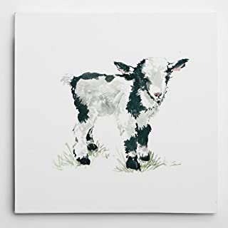 WEXFORD HOME Carol Robinson's 'Baby Goat' Gallery Wrapped Canvas Wall Art, 16x16,