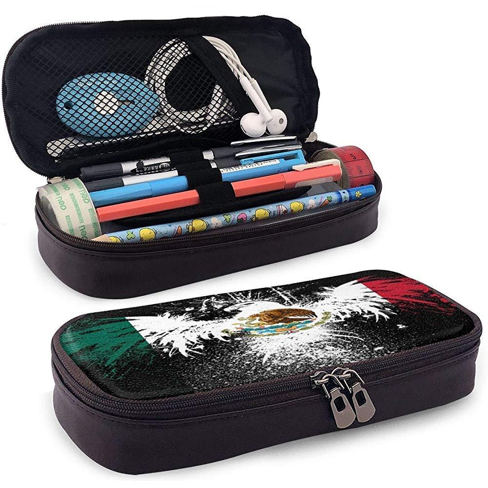 Egla of Mexico Estuche de lápices de cuero PU con estuche de maquillaje impermeable: Amazon.es: Oficina y papelería