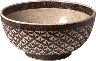 """Emissary Home & Garden Brown Bowl Kobe Design, 7"""" H"""