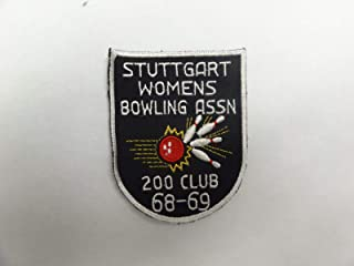 Military Patch Older German Made Bowling Germany Stuttgart 1968-69 Womens ASSOCI