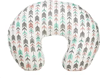 Org Store Premium Nursing Pillow Cover | Slipcover for Breastfeeding Pillows | Fits Most Boppy Pillows (Pink|Mint |Gray) (Pink/Mint/Gray)