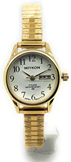 7b7faea02 Ladies Water Resistant Miykon Watch Day Date Stretch Elastic Band Fashion  Watch