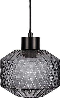 Pauleen 48125 luminaria Gleaming Smoke máx. 25W E27, lámpara Colgante Efecto Cristal Negro 230V, Vidrio ahumado