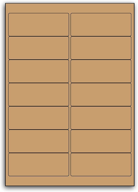 Address Or Multi Purpose Metallic Bronze Round Corschwarzt Label - 14 Labels Per Sheet - 100 Sheets 99.1mm x 38.1mm B00BXE8ZJA    Verrückter Preis, Birmingham