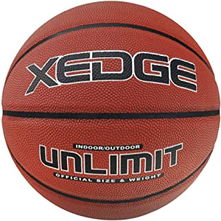 XEDGE Basketball Size 5/6/7 Composite Leather Street Basketball Indoor Outdoor Game Ball with Needle,Pump and Carry Bag