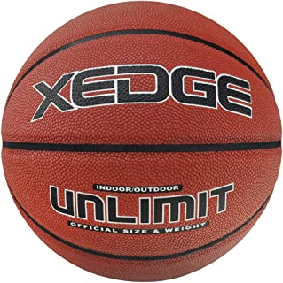 XEDGE Basketballs Official Size 7/29.5 Inches Composite Leather Street Basketball Indoor Outdoor Game Balls with Air Hand Pump, Needles,Basketball Carry Bag