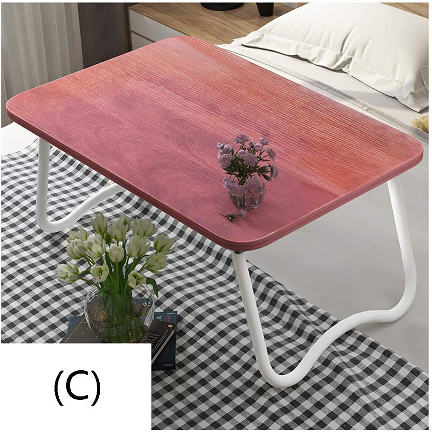 Folding Table Bed Small Table Foldable Laptop Lazy Table Student Bedroom Study Desk Dormitory Artifact Essential Artifact Easy to Use (color   C)