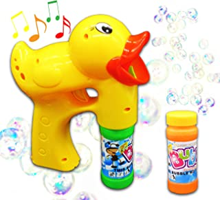 Hoovy Rubber Duck Bubble Gun Blower Shooter Plays Sounds | Rubber Duck Bubble Toys for 2 3 4 5 6 7 Year Old Boy Girl | Bubble Blower for Kids (2 Pack)