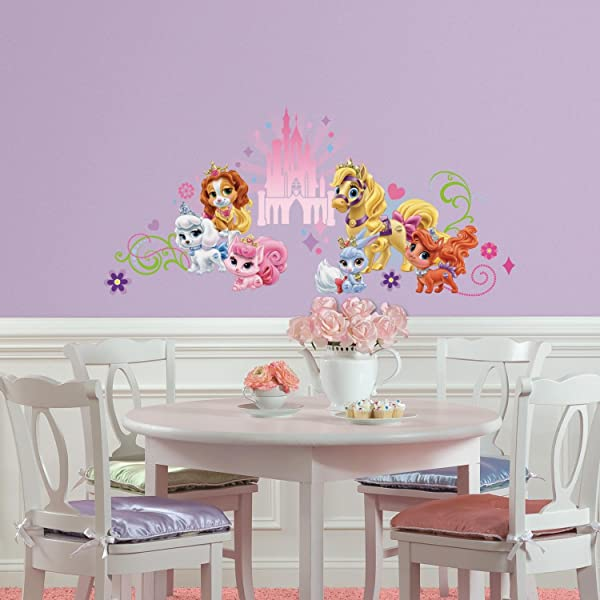 RoomMates Disney Princess Palace Pets Wall Graphic Peel And Stick Wall Decals