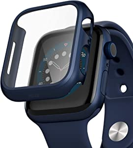 pzoz Compatible for Apple Watch Series 6/5 /4 /SE 40mm Case with Screen Protector Accessories Slim Guard Thin Bumper Full Coverage Matte Hard Cover Defense Edge for iWatch Women Men GPS (Blue)