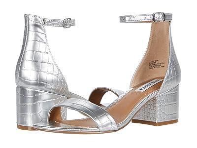 Steve Madden Irenee Sandal (Silver Croco) Women