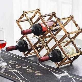 Casiers à bouteille Étagère à vin Casier à vin en Bois Massif à 10 Fentes, Petit Support de Support de Bouteille de vin, R...