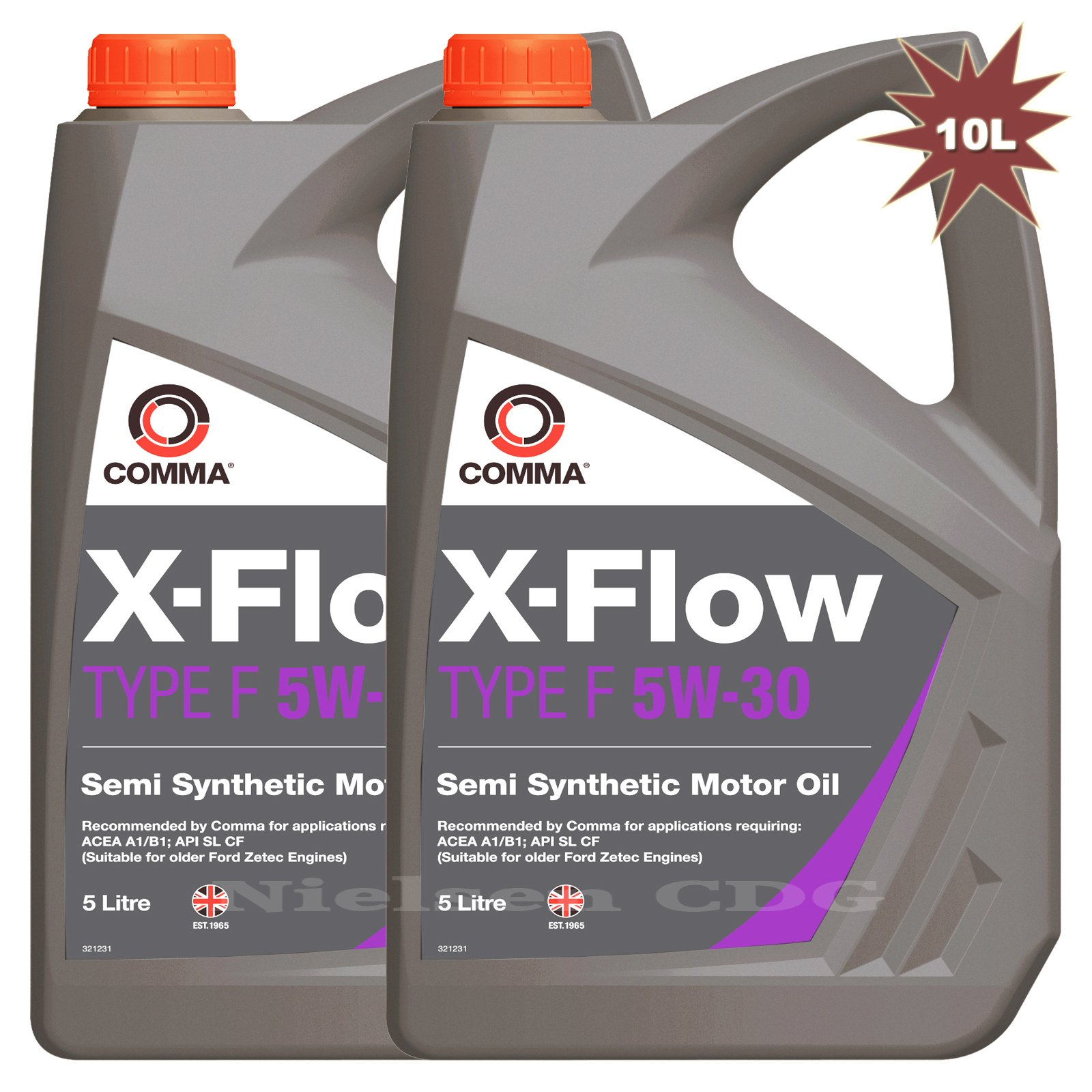 Comma Xff5l X Flow Type F 5w 30 Motor Oil 2x5l Buy Online In